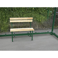 Bench with wooden slats
