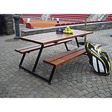 Picnic bench without back rest