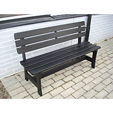 Wooden bench, black