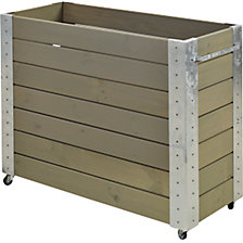 Planter box with castors