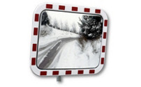 Traffic mirror made of acrylic glass