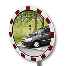 Traffic mirrors made of acrylic glass