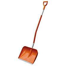 GRP snow shovel with D-shaped handle