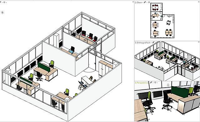 CAD Planung für Büroräume