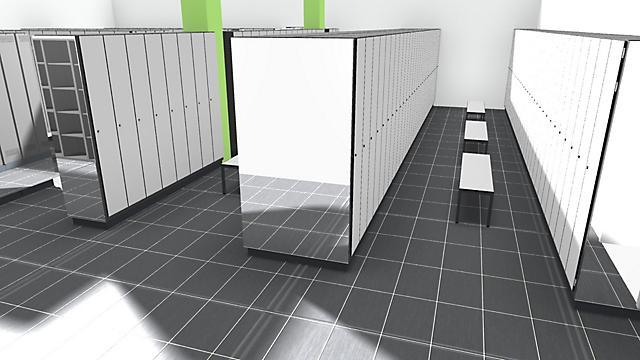 3D CAD-Planungsansicht Umkleide