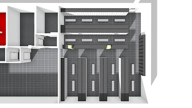 3D-Raumansicht von oben