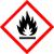 Geeignet für leichtentzündlich Stoffe  Wirkung der Stoffe: können sich bei gewöhnlicher Temperatur an der Luft erhitzen und entzünden, oder haben einen niedrigen Flammpunkt (< 23 °C), oder bilden unter Feuchtigkeit eine gefährliche Menge hochentzündlicher Gase.
