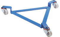 Drum dolly, open frame, light blue