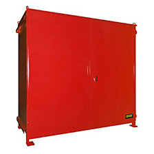 Hazardous goods shelf container