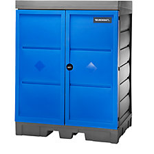 PE hazardous goods storage depot with doors
