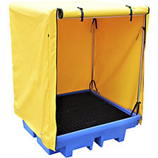 PE sump tray with tarpaulin enclosure