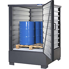 Sheet steel hazardous goods storage