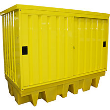 Steel/PE hazardous goods storage depot