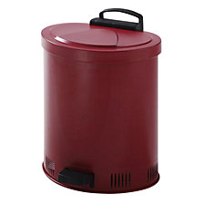 Safety disposal can, self-closing lid