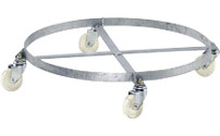 Drum dolly, open frame, zinc plated