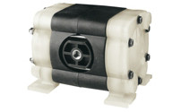 Compressed air double membrane pump