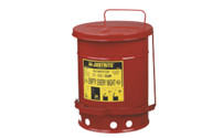 Safety disposal can made of sheet steel
