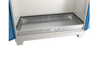 Floor sump tray, zinc plated