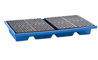 Shelf sump tray made of polyethylene
