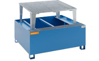 Steel sump tray for IBC/CTC tank containers