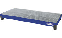 Steel sump tray with PP feet