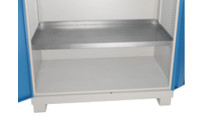 Tray shelf, zinc plated