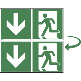 Emergency exit, double sided