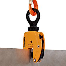 Carrier clamp, KL model, vertical use