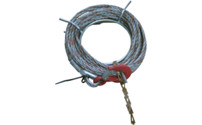 Complete rope with tip and hook