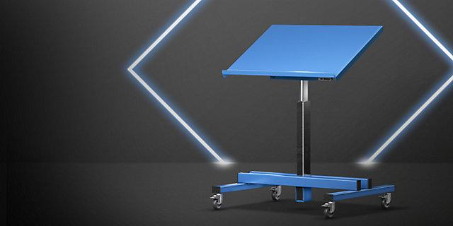 Elektryczny stojak na materiały