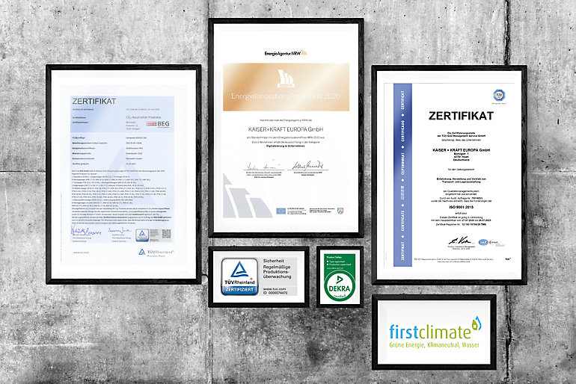 Tri certifikata jedan uz drugi