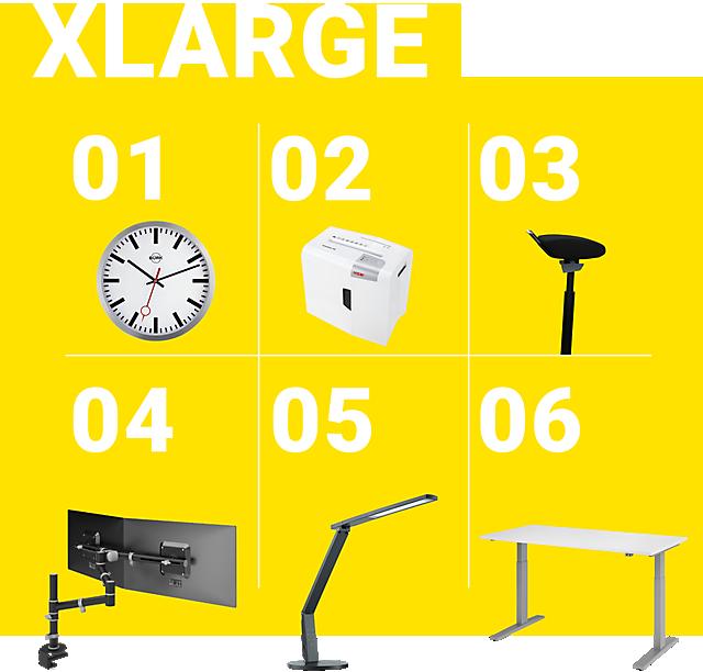 Combinación recomendada: XLarge