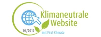 Diese Webseite ist klimaneutral. Auszeichnung mit dem first climate Logo.
