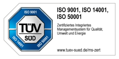 KAISER+KRAFT is ISO 9001, ISO 14001 and ISO 50001 certified.