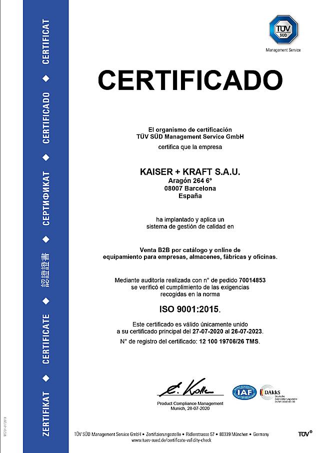 ISO 9001 certificado
