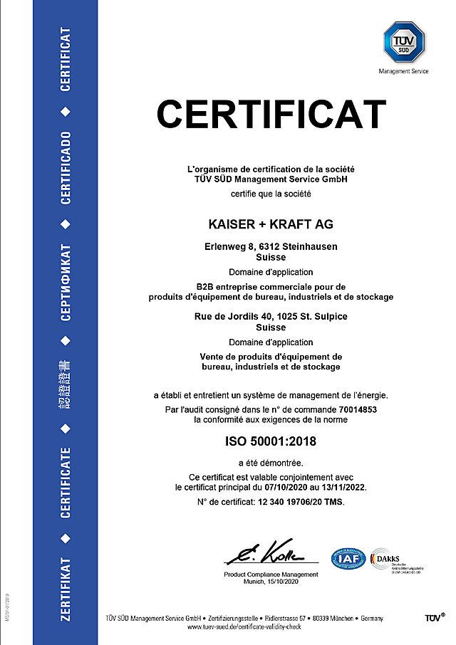 ISO 50001 certificat