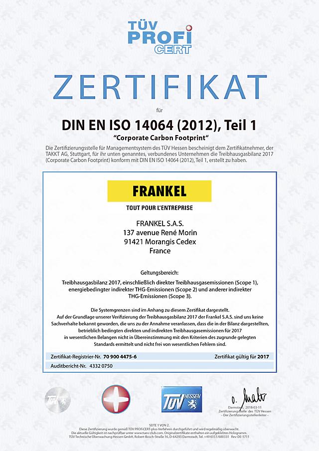 ISO 14064 certificat