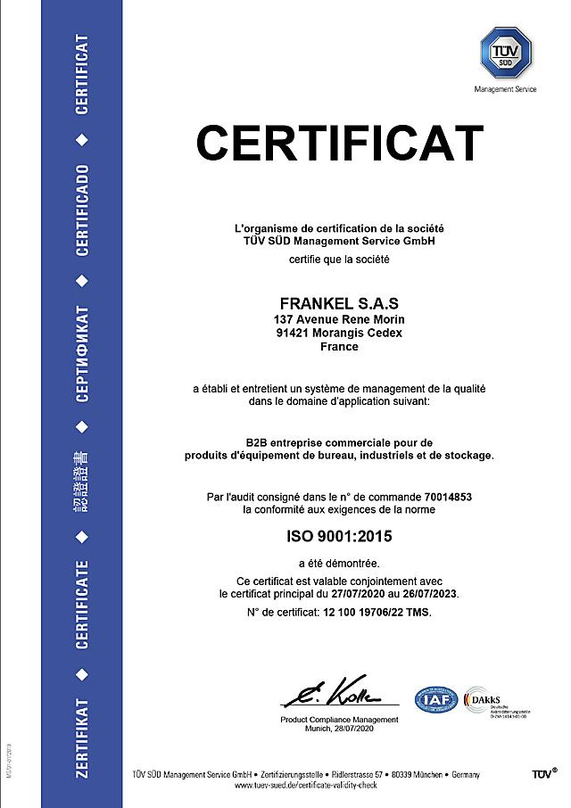 ISO 9001 certificat