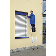 Lean to ladder with rungs