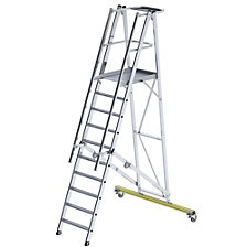 Aluminium folding safety steps, mobile