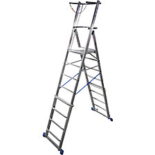 Telescopic mobile safety steps