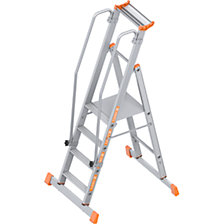 Aluminium folding safety steps