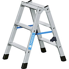 Aluminium step ladder, double sided access