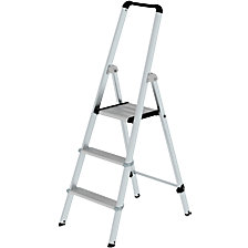 Aluminium step ladder, single sided access