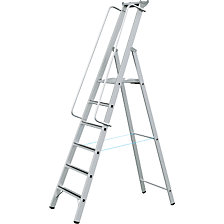 Aluminium step ladder with large platform