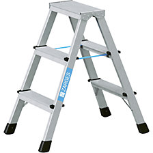 Professional step ladder, anodised