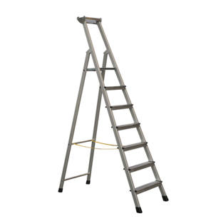 Professional step ladder, single sided access