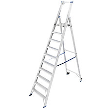 Safety step ladder, single sided access
