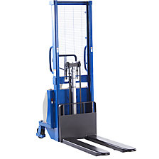 Semi-electric drawbar stacker