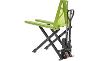 High-lift pallet truck, powder coated
